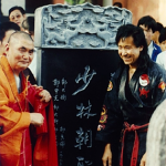 Grandmaster Sin Kwang The honored at the Shao-Lin Temple